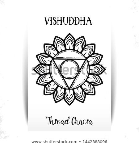 Chakra ilustração vetor garganta semente Foto stock © TRIKONA