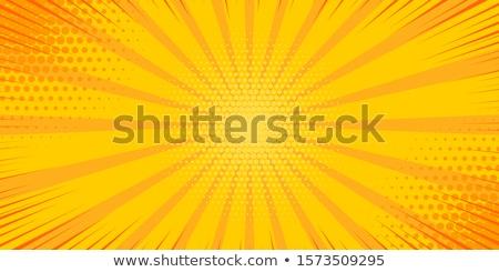 Citromsárga sugarak pop art képregény rajz retro Stock fotó © rogistok