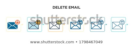 Delete icon in different style Stock photo © sidmay
