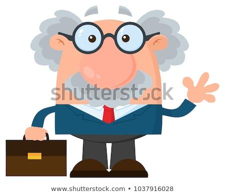 cartoon · hoogleraar · illustratie · student · mannen - stockfoto © hittoon