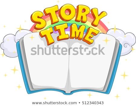 történet · idő · nő · olvas · könyv · fiatal - stock fotó © lenm