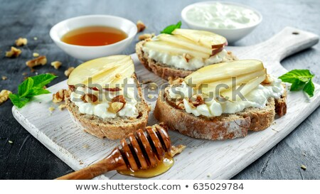 Photo stock: Fromage · cottage · bruschetta · tranche · pain · fraîches · origan