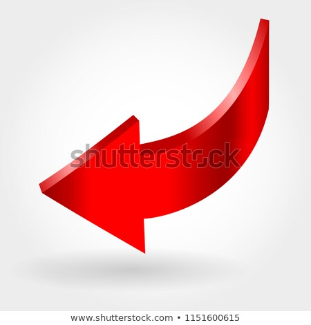 red down arrow and neutral white background 3d illustration stock photo © essl