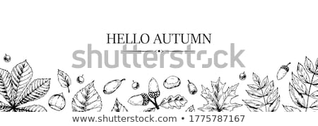 Stock photo: Autumn Background with Falling Leaves Design