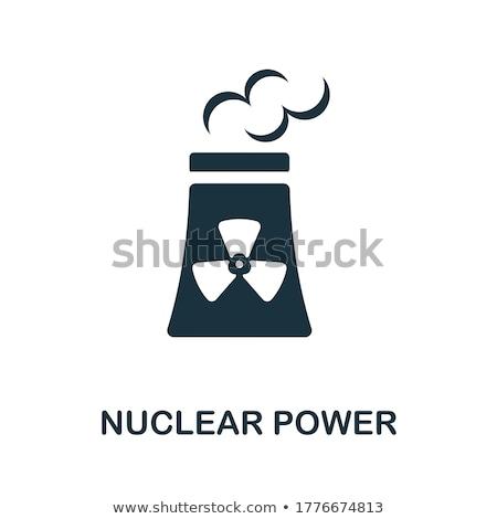 Atome vent électricité pouvoir physique icône Photo stock © robuart