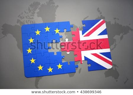 Büyük Britanya avrupa sendika bilmece bayrak form Stok fotoğraf © idesign