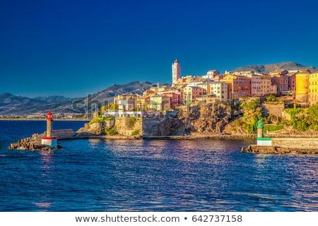 Old Port and Old town of Bastia, France Stock photo © nito