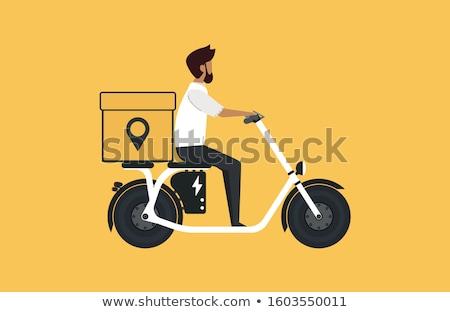 Biker on electric scooter, rider Stock photo © studiostoks