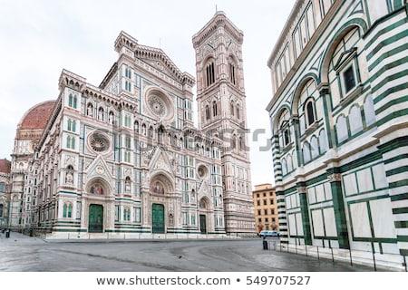 Florence square and cathedral di Santa Maria del Fiore or Duomo  Stock photo © xbrchx