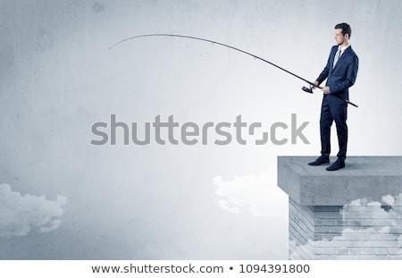 Affaires pêche rien haut nuage libre Photo stock © ra2studio