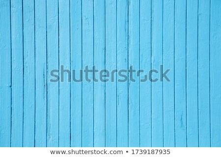 Niebieski ogrodzenia metal drewna dystans miękkie Zdjęcia stock © bobkeenan