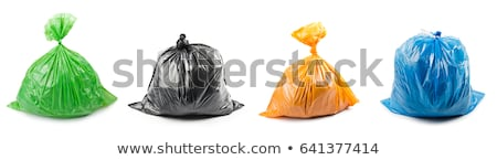 Packages Full of Garbage of Black and Blue Color Stock photo © robuart