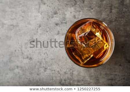 Chilled Whiskey Glass with Ice Cubes Stock photo © Akhilesh