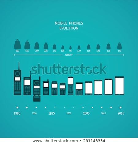 Cellulare smartphone evoluzione line design Foto d'archivio © romvo