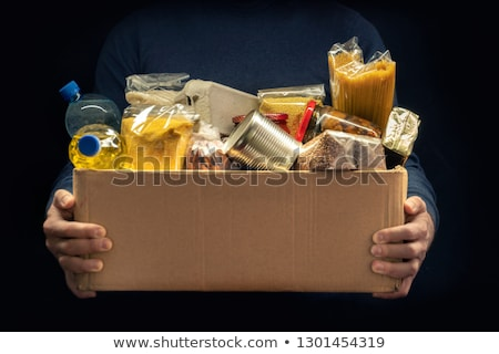 Man With Donation Box Stock photo © AndreyPopov