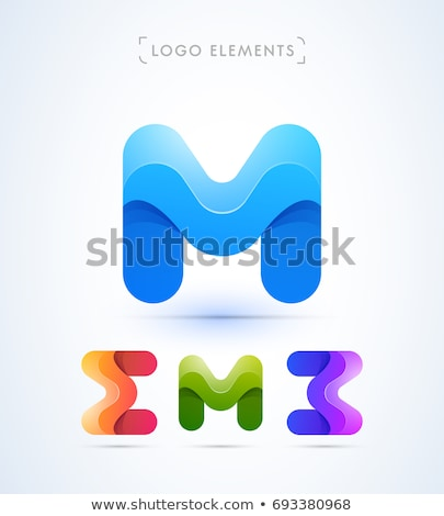 letter m logo design set vector icons stock photo © blaskorizov