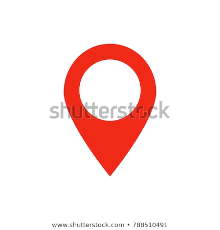 Stock photo: Pin map icon vector flat silhouette isolated  Illustration
