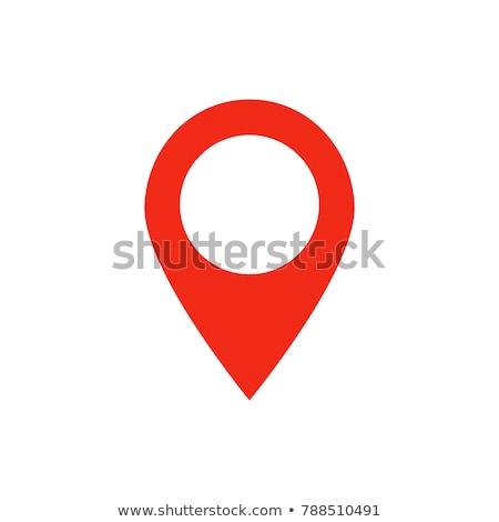 pin · mapa · ícone · vetor · silhueta · isolado - foto stock © NikoDzhi