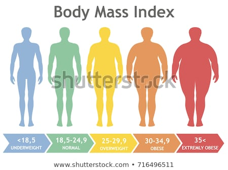 Weight Loss Poster Icons Set Vector Illustration Stock photo © robuart