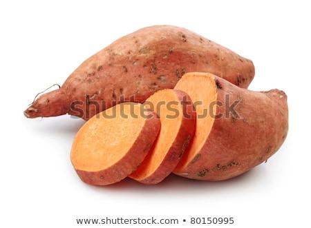 Ruw zoete aardappel witte geïsoleerd voedsel Stockfoto © szefei
