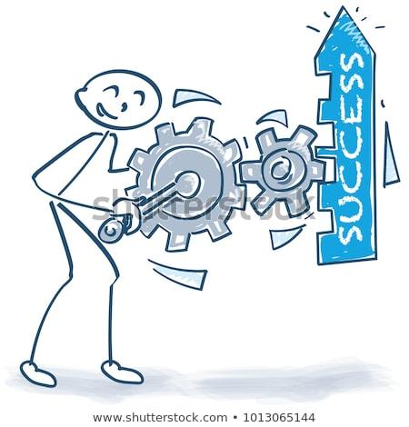 gráfico · de · barras · servicio · flecha · masculina · idea - foto stock © ustofre9