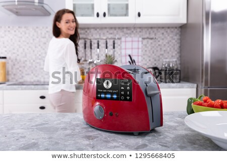 Toaster With Voice Recognition Function On Kitchen Counter Stock photo © AndreyPopov