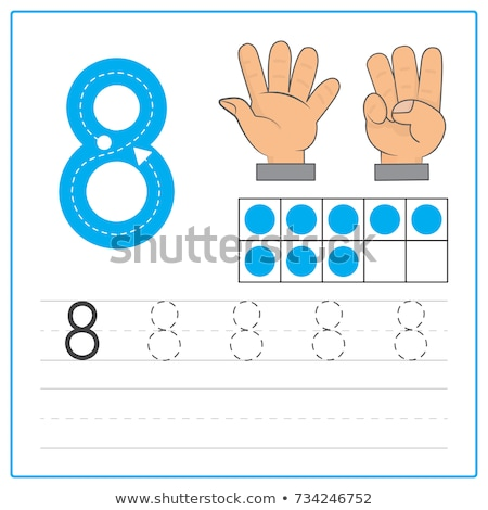 Guide number eight tracing worksheets Stock photo © colematt