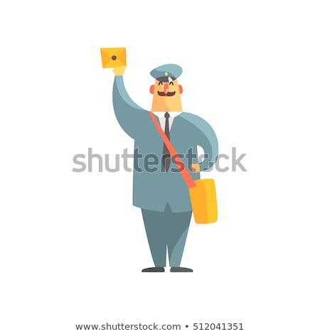 официальный почтальон равномерный сумочка письме человека Сток-фото © netkov1