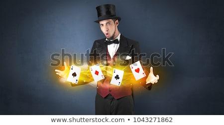 Bűvész energia kezek pezsgő szuper erő Stock fotó © ra2studio