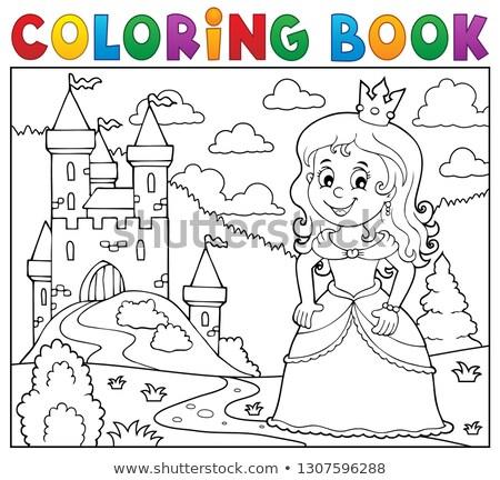 coloring book princess topic image 1 stock photo © clairev