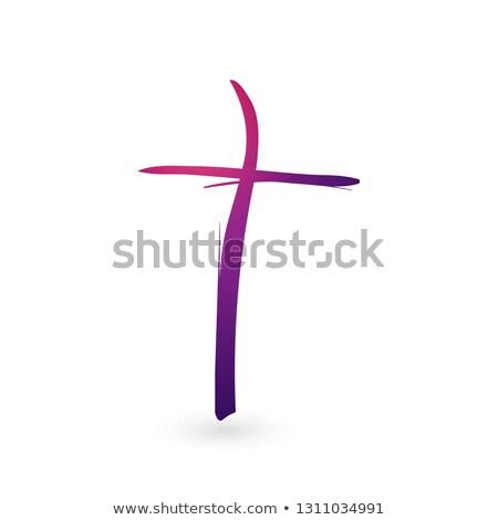 Gradiente cristão atravessar sinais escove Foto stock © kyryloff
