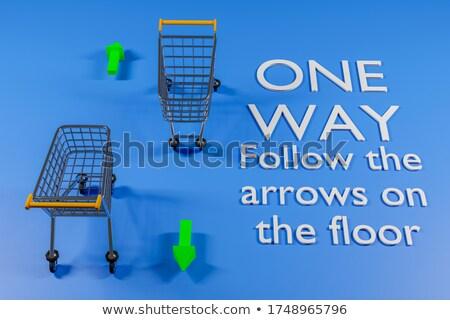 3d man with shopping 2020 cart trolley Stock photo © ribah