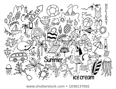 line · arte · vettore · doodle · cartoon - foto d'archivio © olllikeballoon