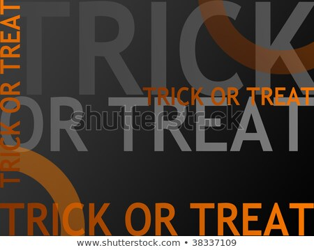 Scaring Halloween Candy Corn With A Witch Hat And Text Stock photo © hittoon