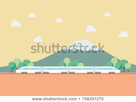 Moderna rail viaje naturaleza ilustración montana Foto stock © bluering