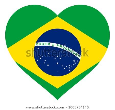 フラグ ブラジル 心臓の形態 実例 デザイン 背景 ストックフォト © colematt