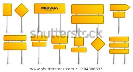 vector set of direction post Stock photo © olllikeballoon