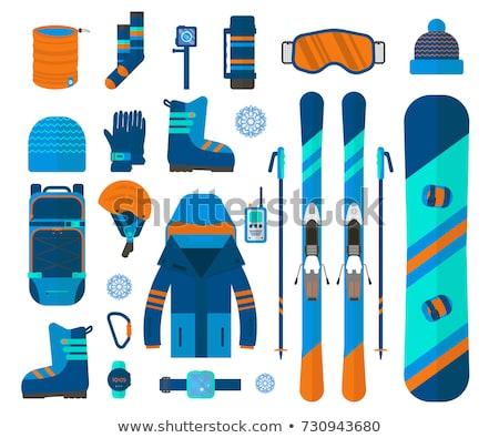 vector set of skiing stock photo © olllikeballoon