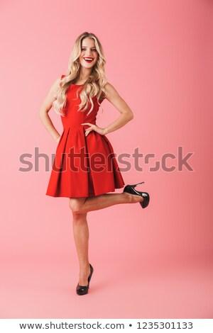 güzel · genç · kadın · uzun · saç · portre · resim - stok fotoğraf © studiolucky
