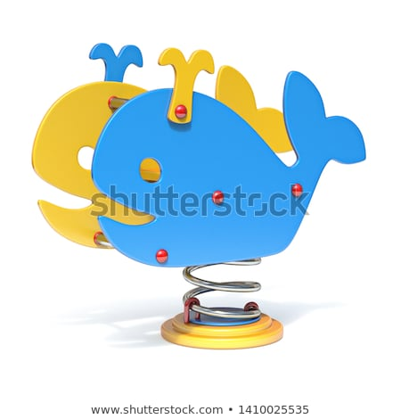 Whale spring swing 3D Stock photo © djmilic