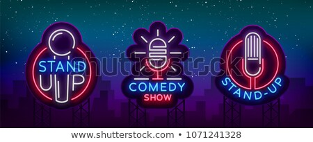 collection of comedy show poster cards set vector stock photo © pikepicture