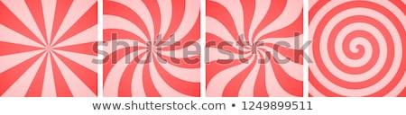 甘い ピンク キャンディ 抽象的な スパイラル 紙 ストックフォト © olehsvetiukha