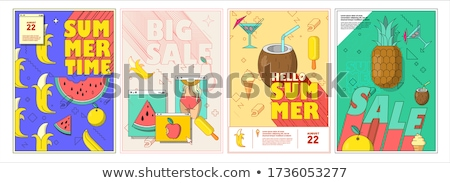 summer big sale set of posters vector illustration stock photo © robuart