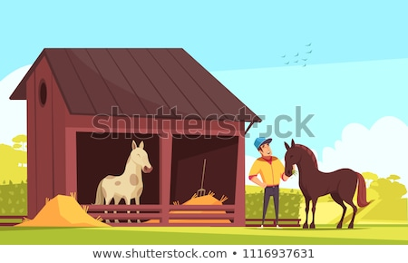 ló · emberek · zöld · férfi · absztrakt · háttér - stock fotó © robuart