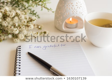 Person Writing I Am Grateful For Text Stock photo © AndreyPopov