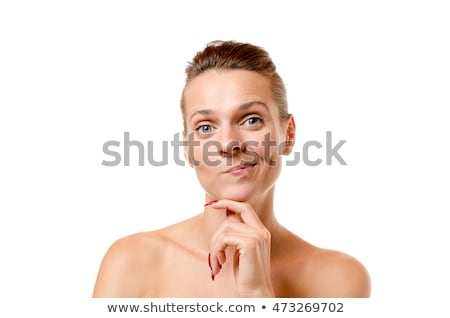 Young woman pulling a wry expression Stock photo © Giulio_Fornasar