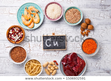 Naturales productos cobre alimentos comer grano Foto stock © furmanphoto