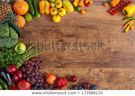 Diverso verdura mangiare sano legno fresche colorato Foto d'archivio © Illia