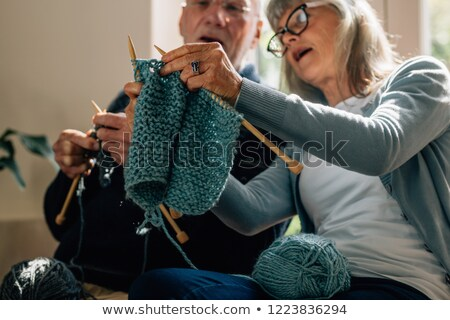 Two Women Knitting Together At Home Stock photo © monkey_business