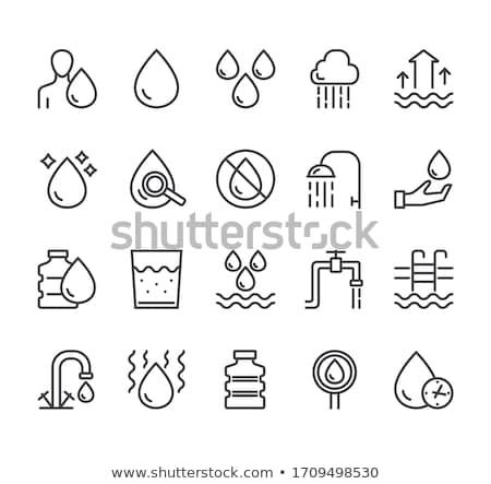 Kran wody szkła wektora podpisania cienki Zdjęcia stock © pikepicture